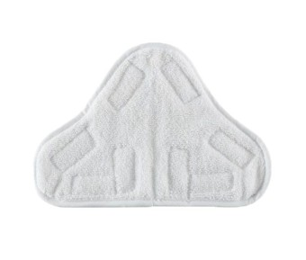 ooplm Washable Replacement Microfiber Steam Mop Pads for Chenille X5/H20 (White)
