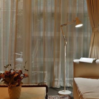 ToJane® LED Long Swing Arm Floor Lamp Metal Art Lamp Long Swing Arm Lamp, Amer-Style Lamp Studio/Bedroom Lamp White - 5