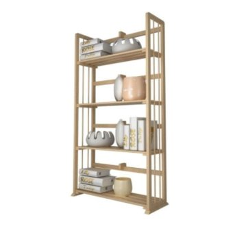 Harga Funika Furniture 33002SBE 4 Tier Book Shelf Biege