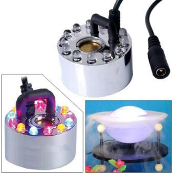 Harga Ultrasonic Maker Mist Fogger Water Fountain Pond 12 LED RGB 400ML/H Fountains (Intl)