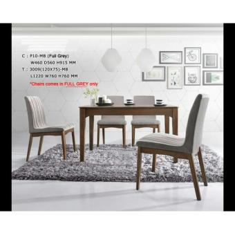 Harga BFF3009-DS Solid Wooden Dining Set (Natural)(Neutral)