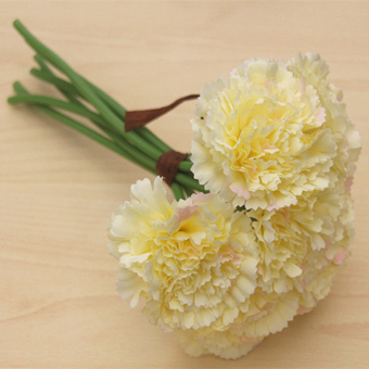 Harga Artificial Silk Flower Carnation Bouquet Wedding ation Beige