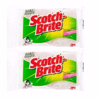 Harga [Bundle of 2] 3M™ Scotch-Brite® Cookware Fresh Scrub Sponge
