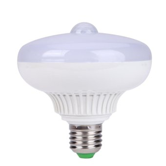 Harga 12 W E27 Infrared Light Body Motion Sensor LED Lamp Bulb (Warm Light) - intl