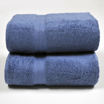 Harga Canopy Luxe Egyptian Cotton Bath Towel Navy (2PCS)