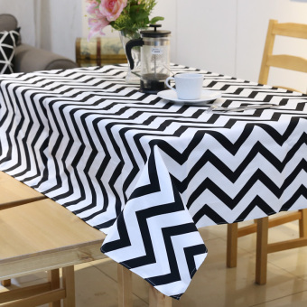 Harga Simple modern black and white striped waterproof tablecloth fabric living room coffee table cloth tablecloth rectangular book tablecloth