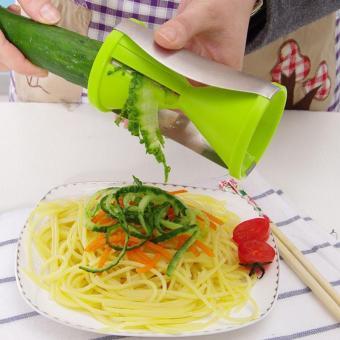 Vegetable spiral slicer carrot cucumber zucchini noodle julienne cutter peeler kitchen piece grater cooking tool - intl - 2