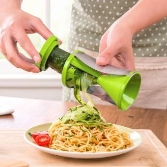 Vegetable spiral slicer carrot cucumber zucchini noodle julienne cutter peeler kitchen piece grater cooking tool - intl - 3