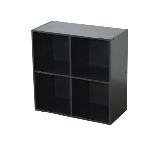 Harga Bilrich Furniture Compo 2x2 Storage Cube Unit (Black)
