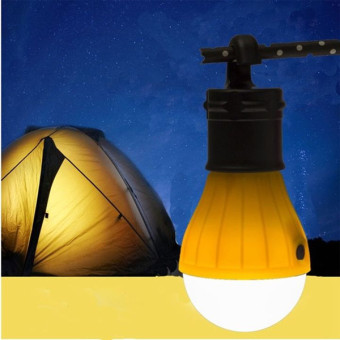 Portable Hanging LED Camping Tent Light Bulb Fishing Lantern Lamp Torch (Green) - 2