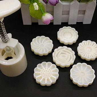 3D Mid-Autumn Festival Cake Pressure Mooncake Mold Cookie Cutter Cake Bakeware - intl - 3