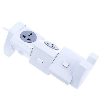 Alardor ALD-3W6K-L 180 Degree Rotating Horizontal Socket EU PLUG (White)--TC - 2