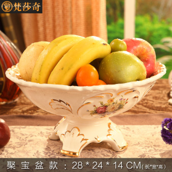 Harga Large-size luxury ceramic fruit bowl/plate