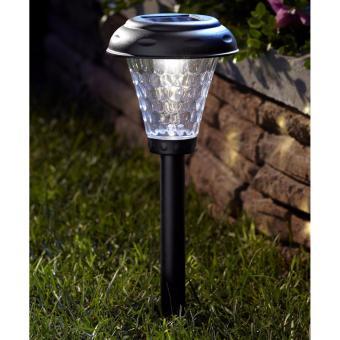 2 PCS Pack Outdoor Solar Power LED Deck Light Mosquito Killer Lamp Yard Plastic Waterproof Lawn Light Path Way Wall Landscape Mount Garden Fence Lamp Light Outdoor Garden Lamp Post Light - intl - 3