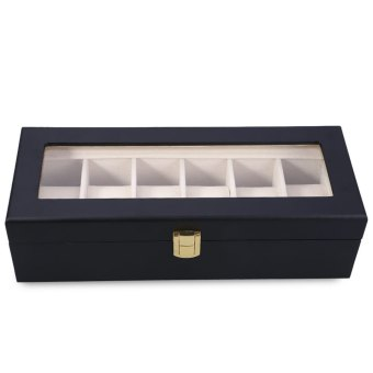 Harga 6 Slots Wood Watch Display Case Watches Box