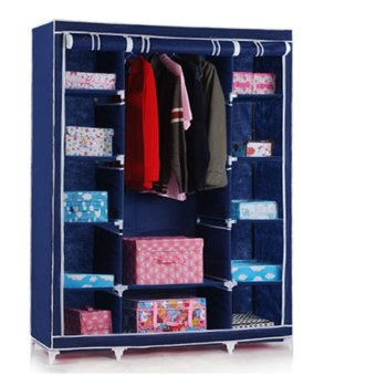 Harga Portle Closet Storage Organizer Wardrobe Clothes Rack With Shelves - intl