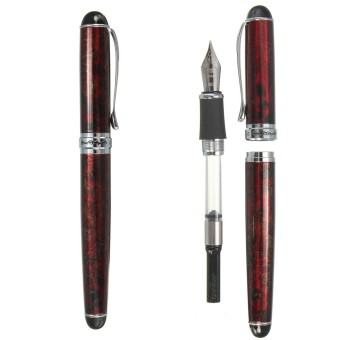 Harga JINHAO X750 Lava Red Fountain Pen Medium Fine Nib Ink Paperwork Office Business