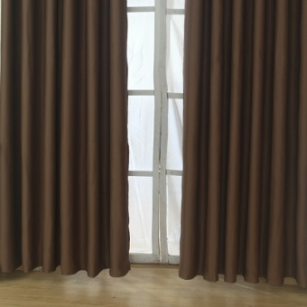 Harga Hooks Curtain XS (Solid Brown) - Set of 2pcs