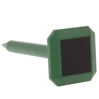 Harga Solar Power Ultrasonic Gopher Mole Snake Mouse Repeller Control (Green)