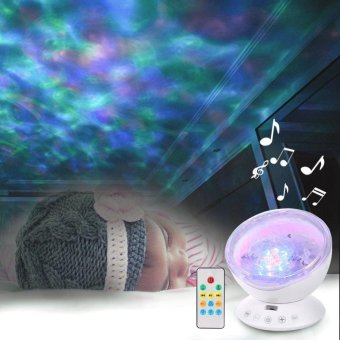 Harga Ocean Wave Music LED Night Light White - intl