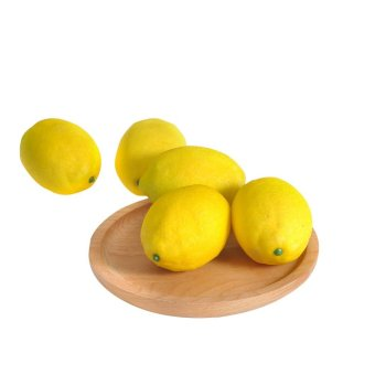 Harga 5pcs Artificial Lemon Home Table Decoration Photography Props Lemon Model - intl