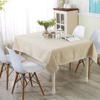 Harga A:48*38 Linen tablecloths Gaibu Sen Department Petty daisy lace linen table cloth
