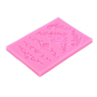Harga Beau Beautiful Flower Shape Chocolate Candy Jello 3D Silicone Fondant Lace Mold Mould Pink - intl