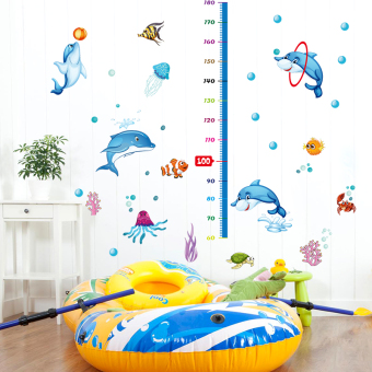 Harga Children's cartoon measuring height stickers baby nursery decor removable wall stickers living room wallpaper sticker