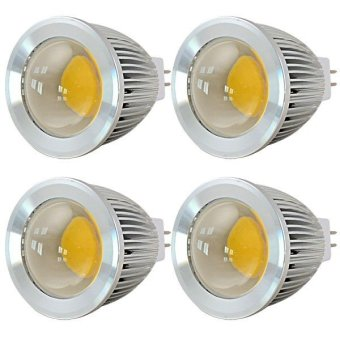 Harga MENGS® 4Pcs MR16 5W LED Spotlight COB LEDs LED Bulb DC 12V In Cool White Energy-Saving Lamp