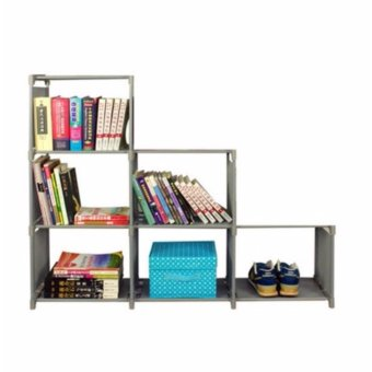 Harga DIY Book Shelf Design D (Grey)