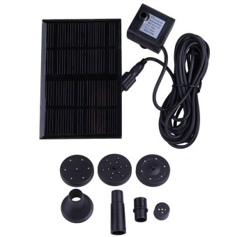 Harga New 7V 1.12W Solar Water Fountain Pump for Pond Fish Tank GY-D-001-NS (Black)