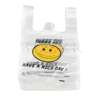 Harga Smile Plastic Shopping Bags 30 x 48cm Set of 100