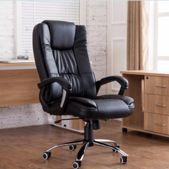 Harga Genuine Leather Boss Chair 338 (Black)