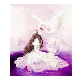 Harga Princess Swan 5D Diamond DIY Painting Home Decor Craft - intl