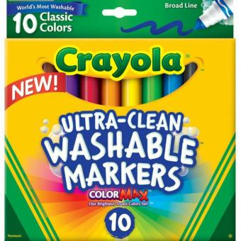 Harga Crayola UltraClean Washable Markers 10pcs
