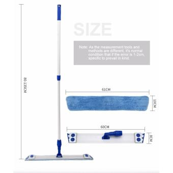 EAST ES2234 Stainless Steel Handle Professional Microfiber mop with 2 Microfibre Refills - intl