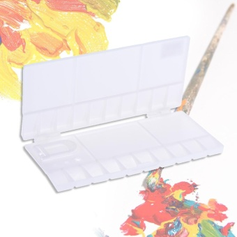 Watercolor Folding Palette Box Paint Tray Painting Case with 20-Well White - intl - 4