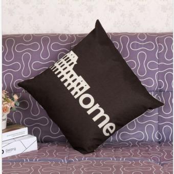 Retro City Building Printing Throw Pillow Cases Home Sofa Decor Cushion Cover - Intl ..