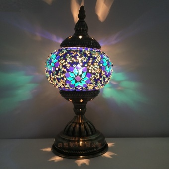 Harga Turkish Mosaic Table Lamp Mediterranean Art Deco Handcrafted Glass romantic bed light lampada da tavolo stile mediterraneo turco