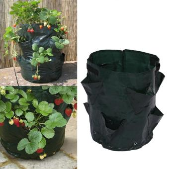 Harga Outdoor Garden Planting Container Bag with 8 Side Pockets - intl