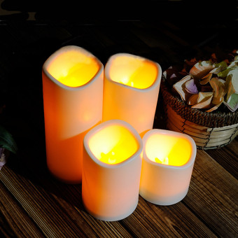 4PCS Of 1SET Fashion Led Flameless Flickering Tealight Candles Battery Operated For Wedding Birthday Party Christmas Safty Home Decoration - Intl - 2