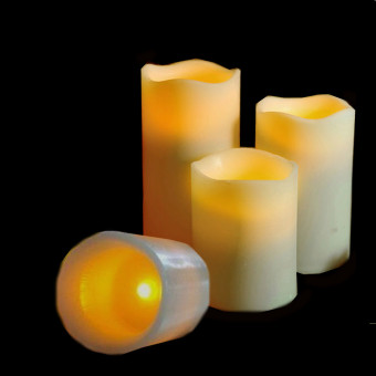 4PCS Of 1SET Fashion Led Flameless Flickering Tealight Candles Battery Operated For Wedding Birthday Party Christmas Safty Home Decoration - Intl - 4