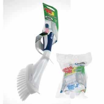 Harga [ Value Set] 3M™ Scotch-Brite® Handy Scrubber with Brush Head + Brush Refill - Small