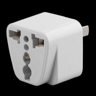 Harga Allwin 2 pin AC American USA Power Plug Adapter Travel Converter Australia UK USA EU White