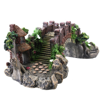 Harga Aquarium Decoration Bridge Pavilion Tree For Fish Tank Resin Ornament Decor (EXPORT) - INTL