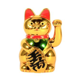 Harga Gold Waving HandWelcoming Cat Good Luck Feng Shui Decoration - intl