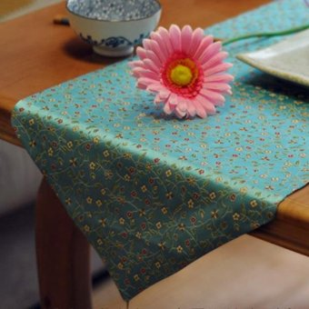 30*180cm Chinese style table runner fashion modern table cloth case blue flowers home decoration table decoration - intl