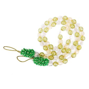 Harga S & F Beads Curtain Rope Tiebacks Tie Belt for Room Window Decor 2pcs Light Green (EXPORT)