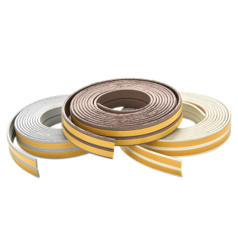 Harga 5M E/D/I-type Foam Draught Self Adhesive Window Door Seal Tape Coffee E