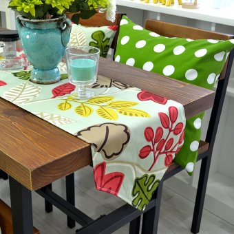 Harga Popular pastoral new cotton double layer table runner bed flag coffee table dining table flag table cloth can be customized